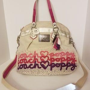 RARE COACH POPPY Heart CROSSBODY BAG